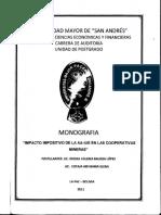 Dip-trib-004-2011 Impacto Impositivo de La Aa-iue en Las Cooperativas Mineras