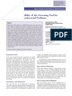 Reliability and validity of the Screening Tool for Assessment of Psychosocial Problems