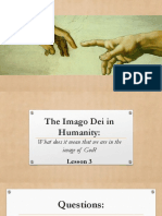 Lesson 3 - The Imago Dei in Humanity