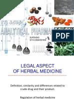 Legal Aspect of Herbal Medicine REF JUDITH 12 SEPT 2019
