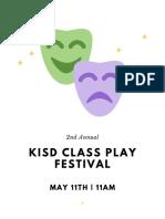 Class Play Festival Program