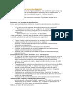 Ejemplo PDCA en Una Organización