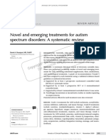 Novel and Emerging Treatments for Autism Spectrum Disorders