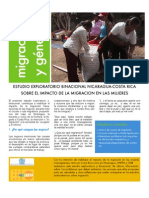 Resumen ejecutivo informe binacional sobre la  incidencia de la migración en las mujeres