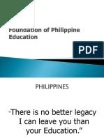Foundation of Philippine Education Sir Aseron
