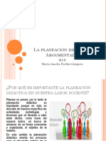 La Planeacic3b3n Didc3a1ctica Argumentada