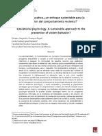 Psicología educativa, ¿un enfoque sustentable para la prevención del comportamiento violento?