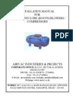 Instruction Manual Twin Lobe Compressor