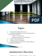 Administrative Discretion and Judicial Review-3