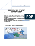 Best proven tips for how to sleep better