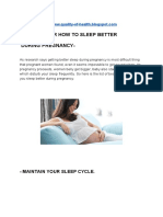 Best tips for how to sleep better during pregnancy