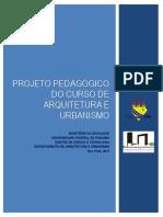 Projeto Pedagógico do Curso de Arquitetura e Urbanismo (UFRR)