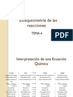 Estequiometria de las reacciones