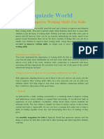 How To Improve Writing Skills For Kids - Squizzle World