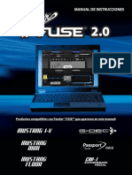 Fender FUSE 2.0 Manual for Mustang G-DeC3 Passport EXP-1 Rev-G Spanish