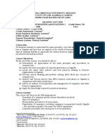 UCU Business Associations I Reading List Revised 2019
