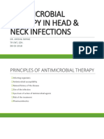 Antimicrobial Therapy in Head & Neck Diseases