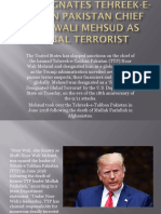 U.S. designates Tehreek-e-Taliban Pakistan chief Noor Wali Mehsud as global terrorist