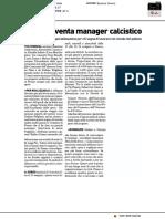 Così si diventa manager calcistico - Il Resto del Carlino del 12 settembre 2019