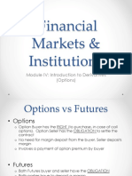FMI - Module IV on Derivatives (Options)