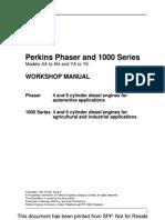 PERKINS Workshop Manual Seria 1000 Pt AB50607
