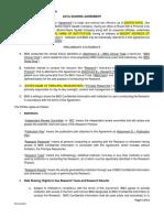 Sample Data Sharing Agreement