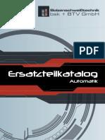 Ersatzteilkatalog Bsk BTV Automatik de 2017