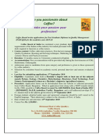 Post Graduate Diploma in Coffee Quality Management [PGDCQM] 2019-20 - Application Form