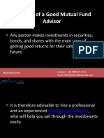 Qualities of a Good Mutual Fund Advisor