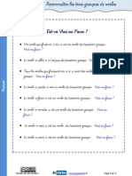 Exercices Groupes Verbes