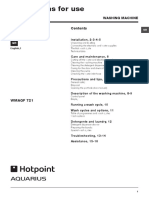 Manual mașina de spălat Hotpoint WMAQF721
