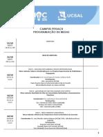 Programação Mesas Pituaçu