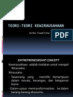 (1) Teori-teori Kewirausahaan