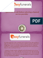 7 Questions to Ask Before Selecting a Funeral Service Provider