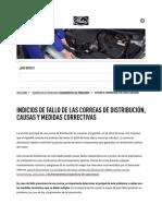 Fallo en Correas de Distribución, Causas y Medidas Correctivas _ Gates Europe