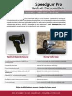 Speedgun Pro Brochure