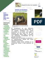 Revista Veterinaria Argentina Timpanismo en Bovinos