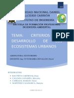 Criterios de Desarrollo de Los Ecosistemas Urbanos