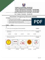 Presentation of Engineering Information