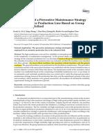 Development of a Preventive Maintenance Strategy