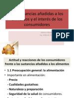 Sustancias Anadidas e Interes de Consumidores SESION 02