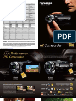 Manual Videocamara Hdc-sd9