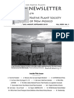 Jul-Sep 2010 Voice for Native Plants Newsletter, Native Plant Society of New Mexico