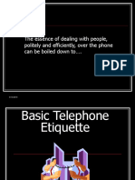 Basic Telephone Etiquette