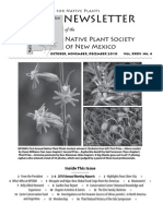 Oct-Dec 2010 Voice for Native Plants Newsletter, Native Plant Society of New Mexico