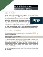 Instrucciones DML