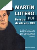 MARTÍN LUTERO Perspectivas Desde El s. XXI - Cubierta