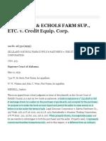 Gilliland & Echols Farm Sup., Etc. v. Credit Equip. Corp. :