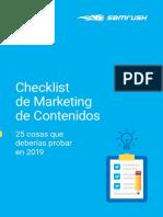 Checklist de Marketing de Contenidos