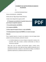 Taller practico #2 Procedimiento gestion interna RESPEL